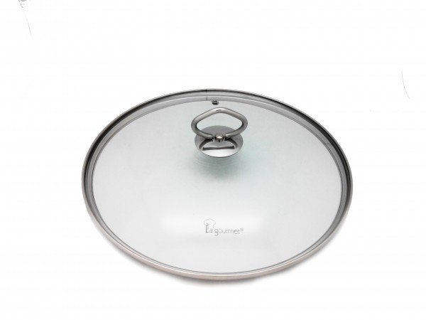 La Gourmet 174 28cm Tempered Glass Lid With Wire Knob